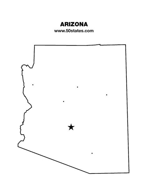 arizona state map outline blank map of arizona find this map and the other 49