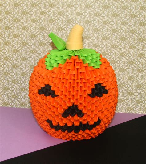 How To Make 3d Pumpkin Out Of Paper - 3d origami pumpkin paper pumpkin origami by