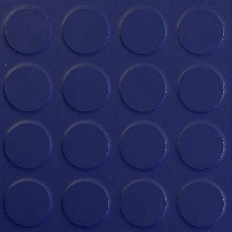 Rubber floor tile round stud Navy Blue   The Rubber Floor