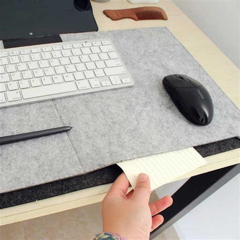 fashion simple layer felt computer desk mouse pad