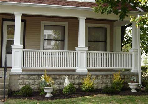 craftsman porch railing   Porch With Pillars    Pinterest