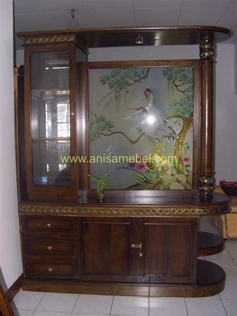 Lemari Kayu Hias lemari hias pembatas ruangan jati anisa mebel jepara