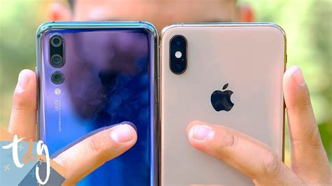 iphone xs max  huawei p pro rivalidad extrema youtube