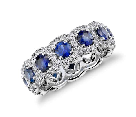 Yellow Sapphire 3 88crt Big Size sapphire and halo eternity ring in 18k white gold
