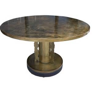 Round Foyer Tables Phillip And Kelvin Laverne Round Dining Foyer Table At 1stdibs