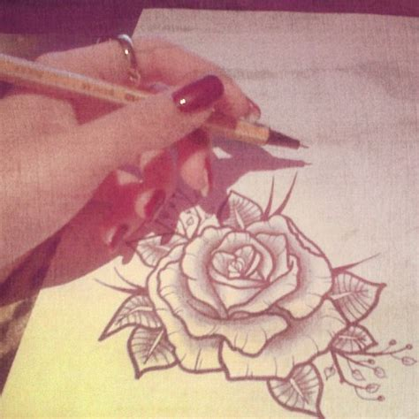 rose tattoo tumblr school on