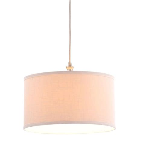 Swag Pendant Light Hton Bay Carroll 1 Light Brushed Nickel Pendant With Fabric Drum Shade Es4763sba D The Home
