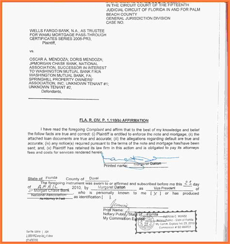 6 Notary Statement Sle Statement Synonym Notary Template Florida