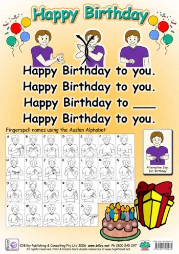 Happy Birthday Sign Language by Happy Birthday Signing Happy Birthday