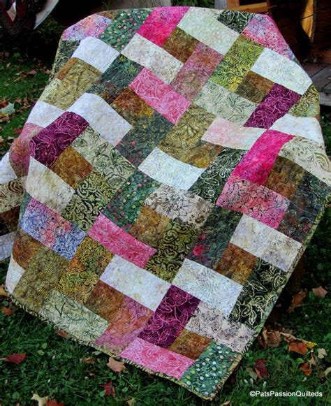Batik Patchwork Quilt - batik patchwork quilt or throw blanket shabby chic in