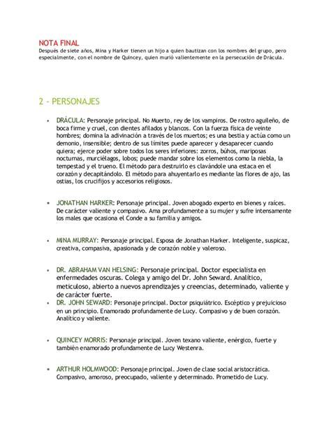 Draculas Resume by Dr 225 Cula R 233 Sumenes
