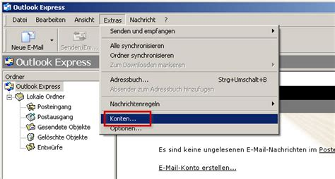 mail konto  outlook express manuell einrichten