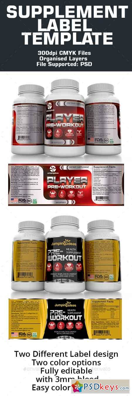 dietary supplement label template supplement label template 16041712 187 free photoshop vector stock image via torrent