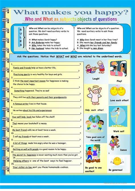 printable happiness quiz interrogative pronouns worksheet free worksheets library