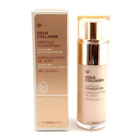 Makeup Base The Shop the shop gold collagen oule foundation gi 225 tốt