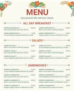 Menu Template Doc by Doc 585828 Menu Sle 25 Food Menu Templates Free