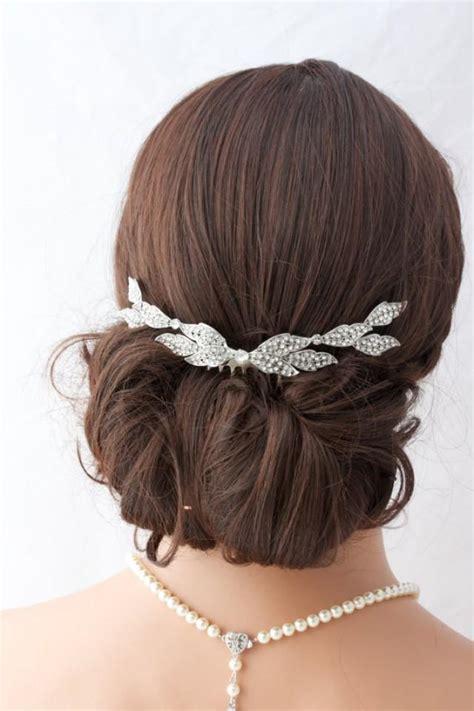 Vintage Wedding Hair Slides by Wedding Comb Bridal Hair Accessory Leaf Back Comb