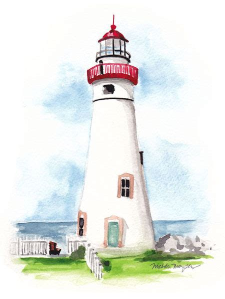 light house design hand painted lighthouse bottle invitation design elegant custom watercolor wedding