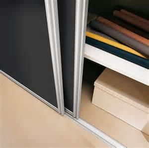 2 sliding wardrobe doors and track set