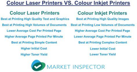 color laser vs inkjet compare wireless colour laser printer prices market
