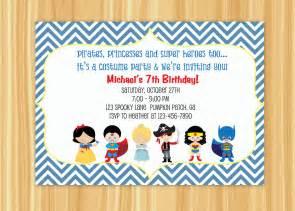 custom printable costume birthday invitation 10 00 via etsy boys ideas
