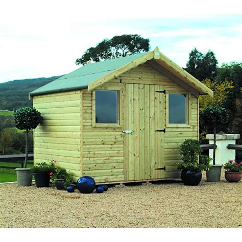 Cabin Style Sheds by Garden Shed Pressure Treated Barrel Board Cabin Style
