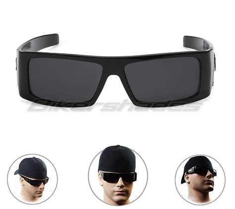 Blind Dark Glasses Locs Sunglasses Men S Motorcycle Riding Gloss Black