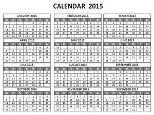 one page 2015 calendar template 2015 calendar by month calendar template 2016