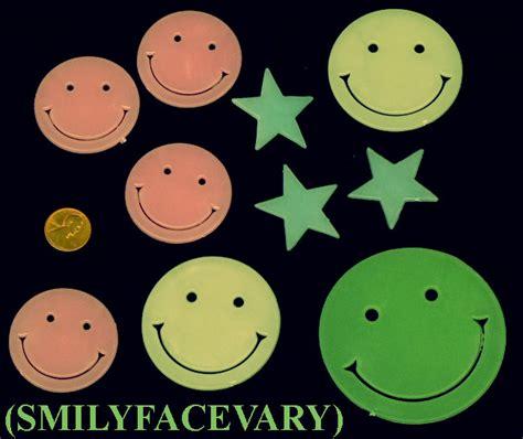 Import Bag Smiley 5x glow 50 plastic smiley babys nursery room ebay