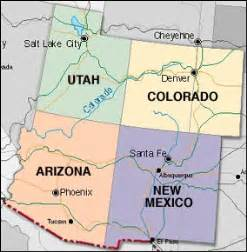 four corners colorado map bill the great been to four corners are you sure