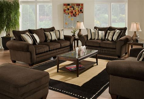 brown couch and loveseat brown fabric casual sofa loveseat set w plush flared arms