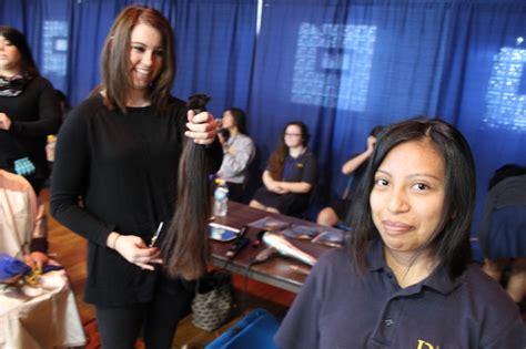 student haircuts chicago de la salle students donate to locks of love