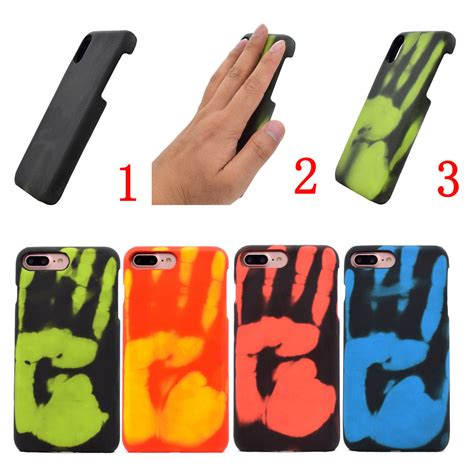 heat sensitive phone cover temperature color changing for iphone xs max 6 7 ebay