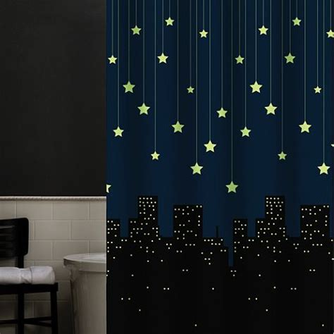 glow in the dark shower curtain shower curtain that glows in the dark could be good for a