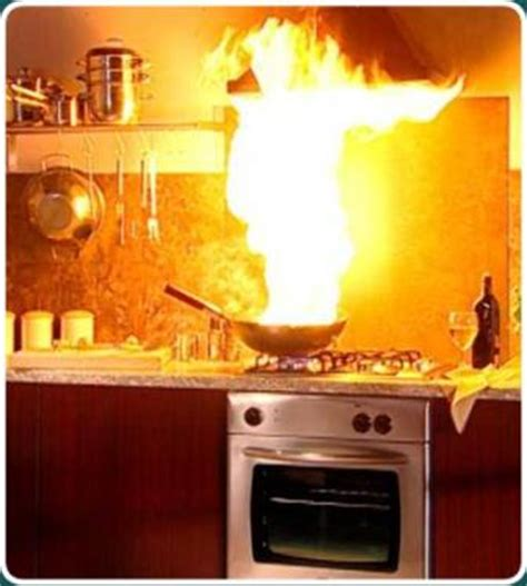 How Do Kitchen Fires Start by Cooking