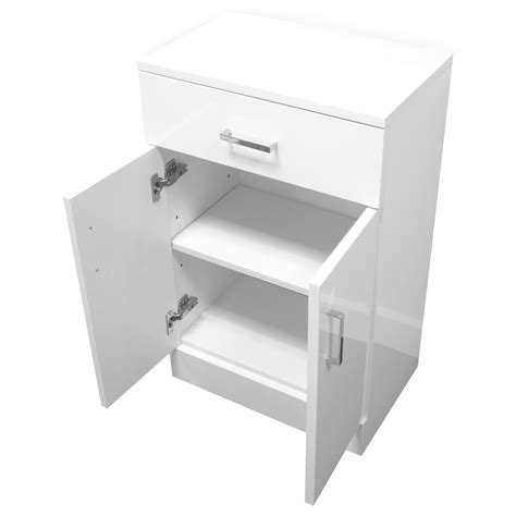 Buy High Gloss White Quot Salerno Quot Bathroom Cabinet W Soft High Gloss Bathroom Storage