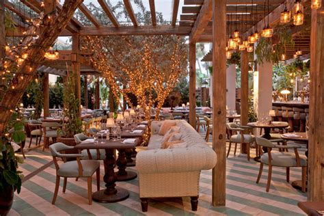cecconi s is an outdoor restaurant decorated like a