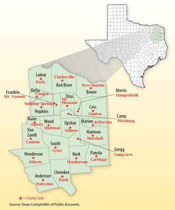 eastern district of texas map east texas map with cities