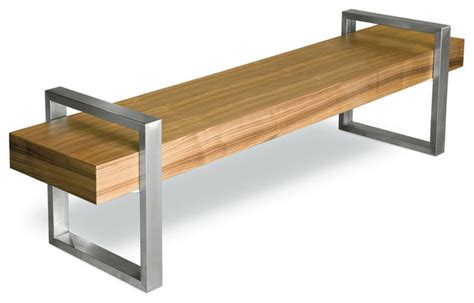 contemporary storage bench gus modern return bench walnut contemporary accent
