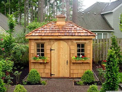 gardening landscaping potting shed plans with ornament trees decorate your garden using