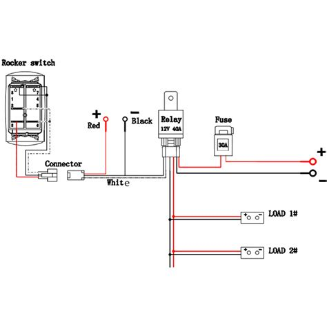 12v relay wiring diagram 6 pin circuit and schematics
