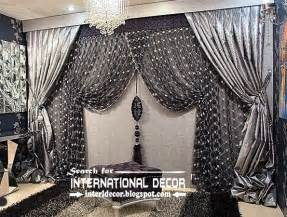 Silver curtain design for living room luxury curtains black curtains