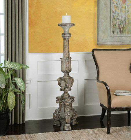 Distressed Spindle Floor L - best 20 floor candle holders ideas on