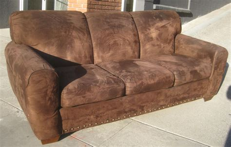 Brown Suede Sofa Smileydot Us