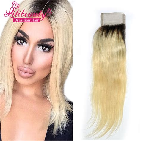 add darker roots to bleached hair 8atwo tone straight lace closure virgin brazilian hair 1b