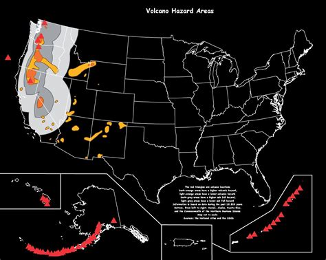 volcano usa map what of risks are posed by modern volcanoes