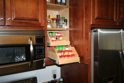 Kitchen Cabinet Spice Rack Slide by Benefits Of Roll Out Shelves Help Your Shelves