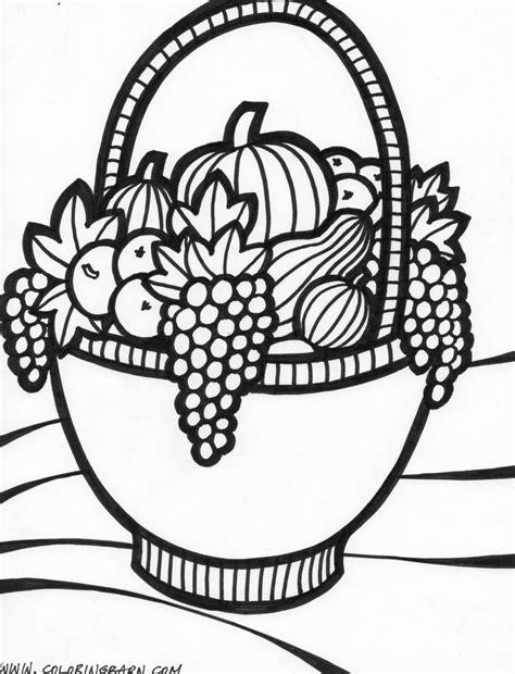 thanksgiving basket coloring page fruit basket coloring pages to print az coloring pages