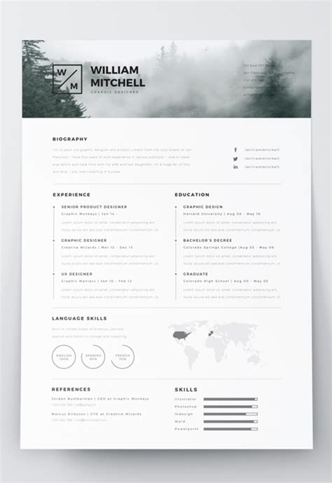 Sle Resume Editable by Adobe Illustrator Resume Template 28 Images Adobe