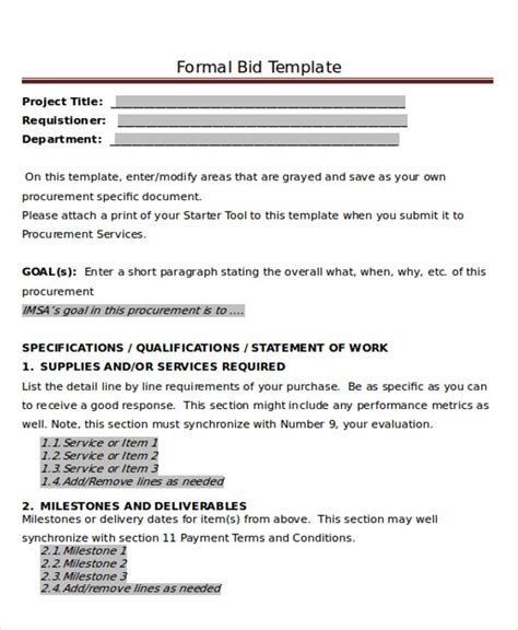 formal estimate template sle formal letter 7 exle in pdf word